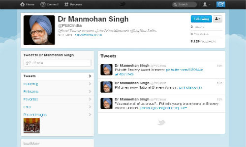 PM Manmohan Singh's Office on Twitter