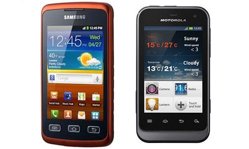 Samsung Xcover VS Motorola Defy Mini - a battle of rugged models