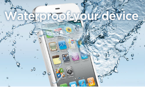 Waterproof nano coatings for mobile phones