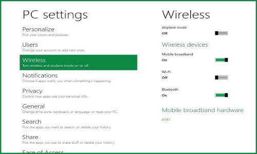 Windows 8: New ways to manage Wi-Fi and Broadband