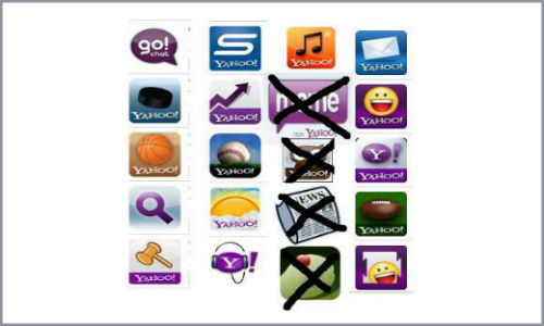 Yahoo removes applications from apps market