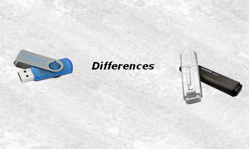 Can you differentiate a pen drive from a flash drive?