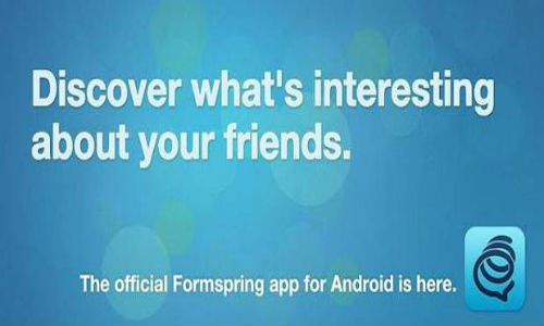 Formspring app on Android