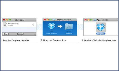 How to directly share a folder of files in dropbox?