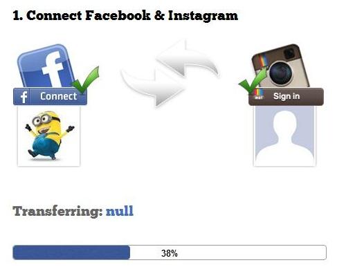 facebook how to transfer photos instagram social