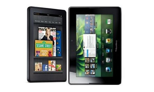 Tablet PC war: Blackberry Playbook vs Amazon Kindle Fire