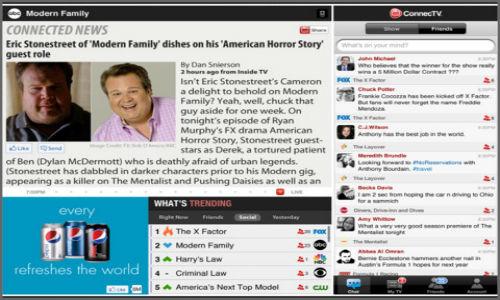 ConnecTV iPad app