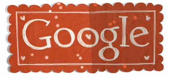 Google doodles a love song on Valentines Day