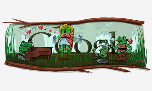 Google doodles birthday on leap day