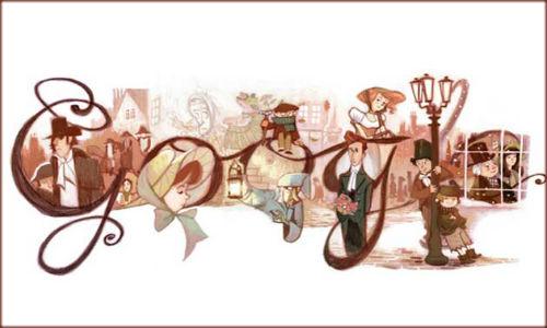 Google doodles Charles Dickens' Birthday