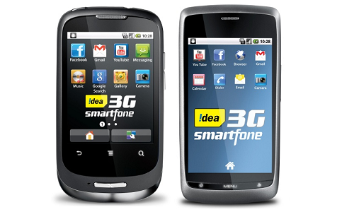 Idea 3G Android phones in 3 Indian states in March