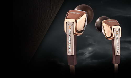 Gratitude in ear headphones from Monster