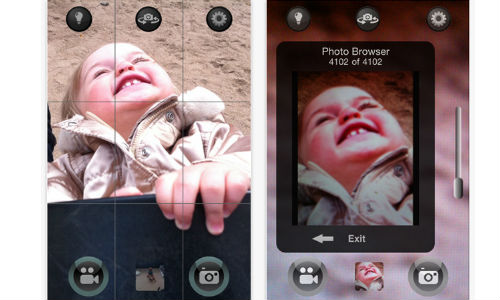 QuickPix iPhone App enables you to take photos and record simultaneously