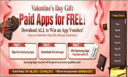 Samsung celebrates Valentines Day