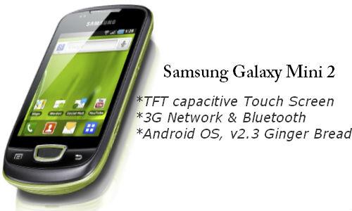 Samsung Galaxy Mini 2 New Android phone
