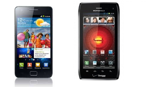 Samsung Galaxy s3 and Motorola Droid 4: Android phones