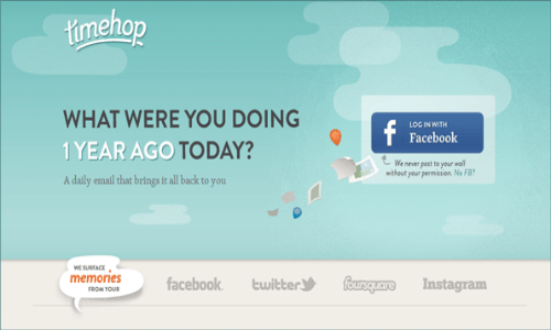 Timeshop: Check out what you did the same day last year
