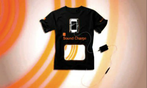 Use your t-shirt to charge your mobile
