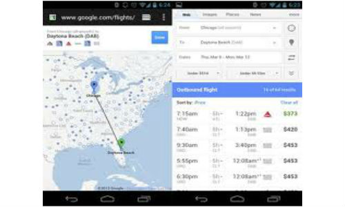 Google Mobile Flight Search launched