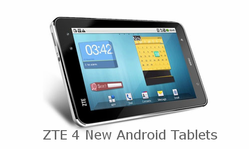 4 new Android tablets from ZTE