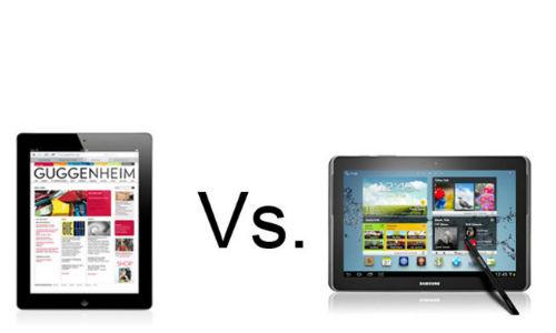 Apple new iPad vs Samsung Galaxy Note 10.1