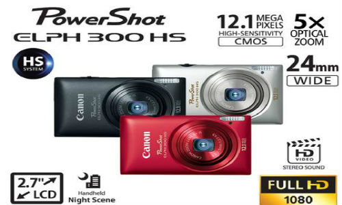 Canon's new PowerShot ELPH 300 HS camera for Rs 15,000