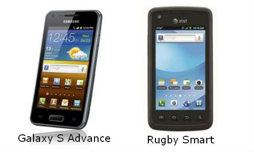 Comparison of Samsung's Galaxy S Advance and Rugby Smart