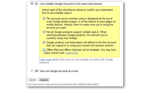 How to access all Google Accounts with multiple sign-in?