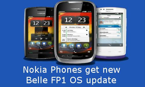Nokia phones to get new Belle FP1 OS update