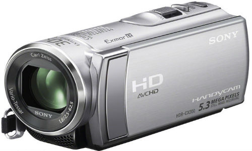 A new handycam model, Sony HDR-CX200E