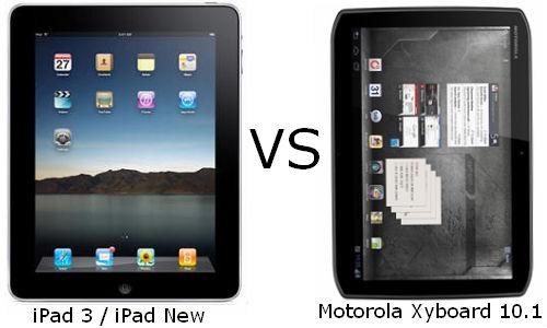 Tablet War: iPad 3 Vs Motorola Xyboard 10.1