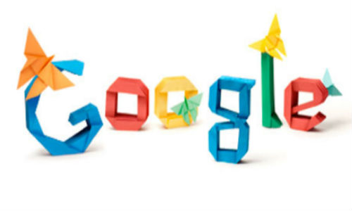 Google's origami doodle
