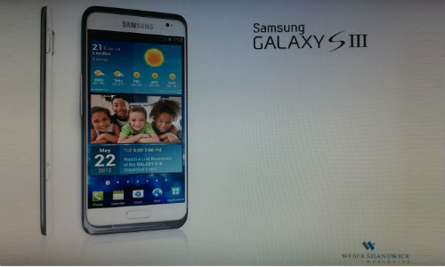 Samsung Galaxy SIII to be launched on May 22?