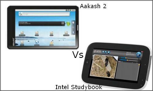 Tablets war: Aakash 2 Vs Intel Studybook