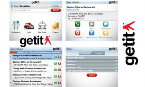 Getit mobile app for Blackberry, Symbian, Android, Java and iOS