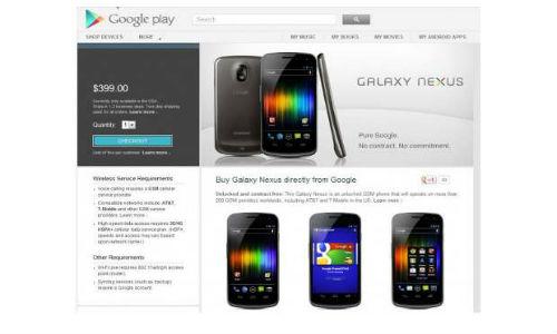 Google Play starts selling smartphones