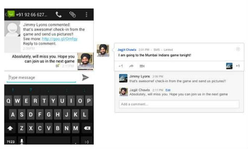 Google Plus launches personalized SMS services