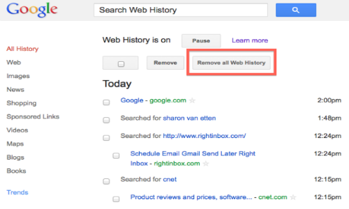How to delete Google web history? [Video]