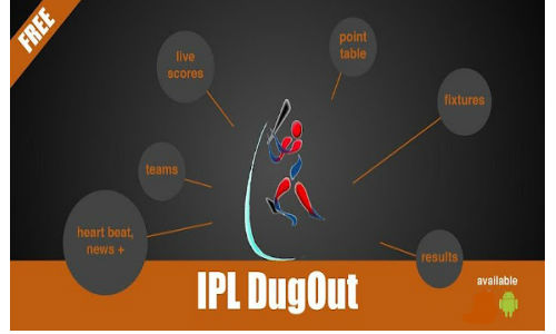 IPL Dugout free app for Android