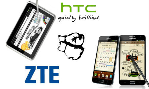 Samsung Galaxy Note getting competition from HTC and ZTE