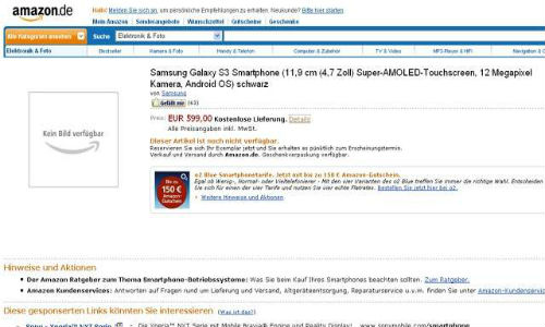 Samsung Galaxy S3 is available for pre-order