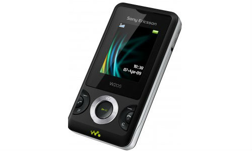 Sony Ericsson W205 is the cheapest Sony walkman phone in India
