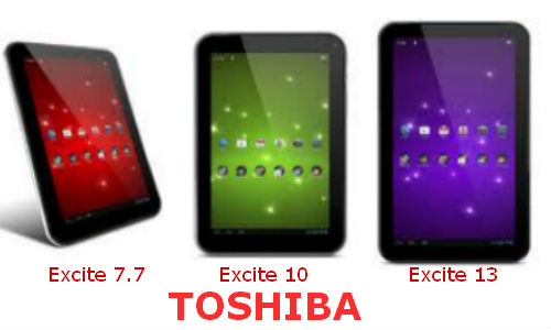 Toshiba launches 3 Excite Model Tablets