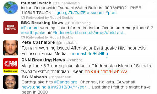 Social media flooded with earthquake feeds