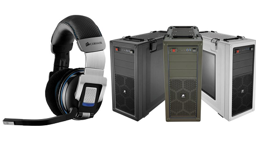 Wireless gaming headset and PC gaming case from Corsair