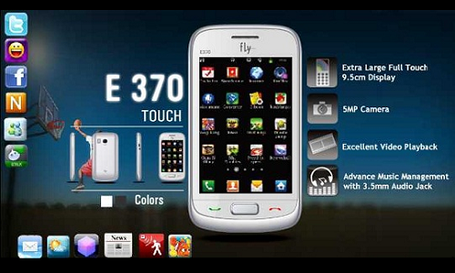 Fly E370 phone: Full Specifications