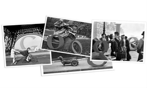 Google doodles Robert Doisneau's 100th birthday