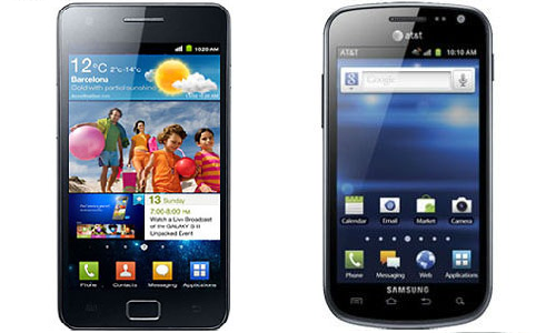 Comparison of Samsung Galaxy S2 and Galaxy Exhilarate