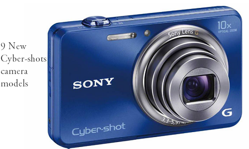 Sony launches 9 new Cyber-shots camera models