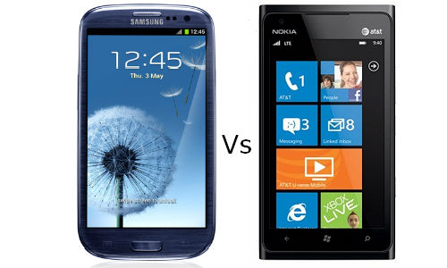 Comparison of  Samsung Galaxy S3 and Nokia Lumia 900